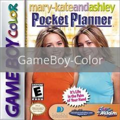 Image of Mary-Kate and Ashley Pocket Planner original video game for GameBoy Color classic game system. Rocket City Arcade, Huntsville Al. We ship used video games Nationwide