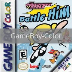 Image of Powerpuff Girls Battle Him original video game for GameBoy Color classic game system. Rocket City Arcade, Huntsville Al. We ship used video games Nationwide
