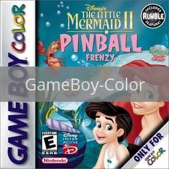 Image of Little Mermaid 2 Pinball Frenzy original video game for GameBoy Color classic game system. Rocket City Arcade, Huntsville Al. We ship used video games Nationwide