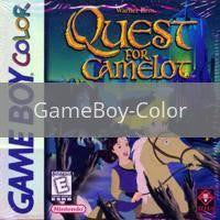 Image of Quest for Camelot original video game for GameBoy Color classic game system. Rocket City Arcade, Huntsville Al. We ship used video games Nationwide