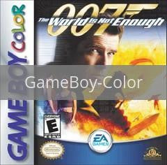 Image of World Is Not Enough 007 original video game for GameBoy Color classic game system. Rocket City Arcade, Huntsville Al. We ship used video games Nationwide
