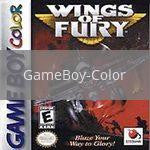 Image of Wings of Fury original video game for GameBoy Color classic game system. Rocket City Arcade, Huntsville Al. We ship used video games Nationwide