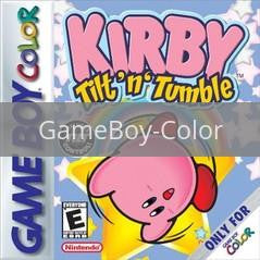 Image of Kirby Tilt and Tumble original video game for GameBoy Color classic game system. Rocket City Arcade, Huntsville Al. We ship used video games Nationwide