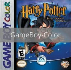 Image of Harry Potter Sorcerers Stone original video game for GameBoy Color classic game system. Rocket City Arcade, Huntsville Al. We ship used video games Nationwide