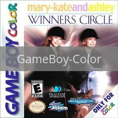 Image of Mary-Kate and Ashley Winner's Circle original video game for GameBoy Color classic game system. Rocket City Arcade, Huntsville Al. We ship used video games Nationwide