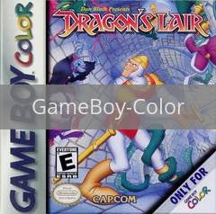 Image of Dragon's Lair original video game for GameBoy Color classic game system. Rocket City Arcade, Huntsville Al. We ship used video games Nationwide