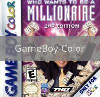 Image of Who Wants To Be A Millionaire 2nd Edition original video game for GameBoy Color classic game system. Rocket City Arcade, Huntsville Al. We ship used video games Nationwide