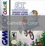Image of ET The Extraterrestrial Escape from Planet Earth original video game for GameBoy Color classic game system. Rocket City Arcade, Huntsville Al. We ship used video games Nationwide