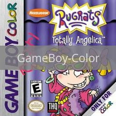 Image of Rugrats Totally Angelica original video game for GameBoy Color classic game system. Rocket City Arcade, Huntsville Al. We ship used video games Nationwide
