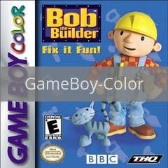 Image of Bob the Builder Fix it Fun original video game for GameBoy Color classic game system. Rocket City Arcade, Huntsville Al. We ship used video games Nationwide