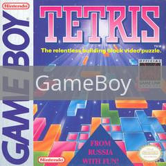 Image of Tetris original video game for GameBoy classic game system. Rocket City Arcade, Huntsville Al. We ship used video games Nationwide