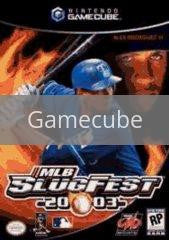 Image of MLB Slugfest 2003 original video game for Gamecube classic game system. Rocket City Arcade, Huntsville Al. We ship used video games Nationwide
