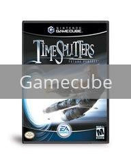 Image of Time Splitters Future Perfect original video game for Gamecube classic game system. Rocket City Arcade, Huntsville Al. We ship used video games Nationwide