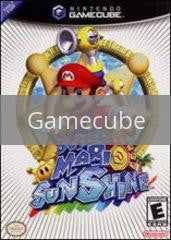 Image of Super Mario Sunshine original video game for Gamecube classic game system. Rocket City Arcade, Huntsville Al. We ship used video games Nationwide