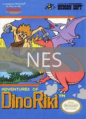 Image of Adventures of Dino Riki original video game for NES classic game system. Rocket City Arcade, Huntsville Al. We ship used video games Nationwide