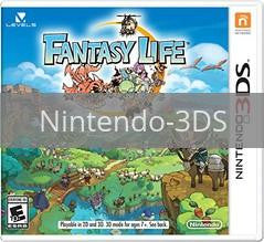 Image of Fantasy Life original video game for Nintendo 3DS classic game system. Rocket City Arcade, Huntsville Al. We ship used video games Nationwide