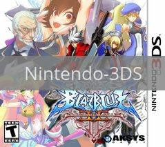 Image of BlazBlue: Continuum Shift II original video game for Nintendo 3DS classic game system. Rocket City Arcade, Huntsville Al. We ship used video games Nationwide