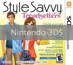 Image of Style Savvy Trendsetter original video game for Nintendo 3DS classic game system. Rocket City Arcade, Huntsville Al. We ship used video games Nationwide