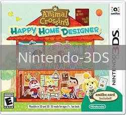 Image of Animal Crossing Happy Home Designer original video game for Nintendo 3DS classic game system. Rocket City Arcade, Huntsville Al. We ship used video games Nationwide