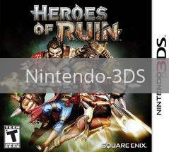 Image of Heroes of Ruin original video game for Nintendo 3DS classic game system. Rocket City Arcade, Huntsville Al. We ship used video games Nationwide