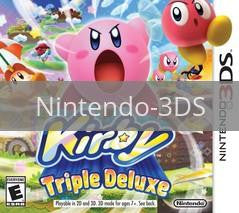 Image of Kirby Triple Deluxe original video game for Nintendo 3DS classic game system. Rocket City Arcade, Huntsville Al. We ship used video games Nationwide