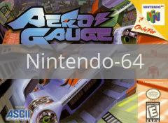 Image of Aero Gauge original video game for Nintendo 64 classic game system. Rocket City Arcade, Huntsville Al. We ship used video games Nationwide