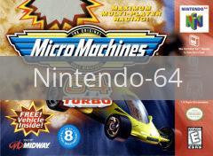 Image of Micro Machines original video game for Nintendo 64 classic game system. Rocket City Arcade, Huntsville Al. We ship used video games Nationwide