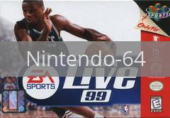 Image of NBA Live 99 original video game for Nintendo 64 classic game system. Rocket City Arcade, Huntsville Al. We ship used video games Nationwide