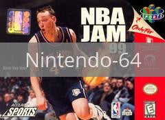 Image of NBA Jam 99 original video game for Nintendo 64 classic game system. Rocket City Arcade, Huntsville Al. We ship used video games Nationwide