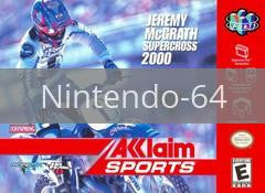 Image of Jeremy McGrath Supercross 2000 original video game for Nintendo 64 classic game system. Rocket City Arcade, Huntsville Al. We ship used video games Nationwide