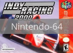 Image of Indy Racing 2000 original video game for Nintendo 64 classic game system. Rocket City Arcade, Huntsville Al. We ship used video games Nationwide