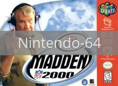 Image of Madden 2000 Football original video game for Nintendo 64 classic game system. Rocket City Arcade, Huntsville Al. We ship used video games Nationwide