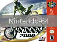 Image of Supercross 2000 original video game for Nintendo 64 classic game system. Rocket City Arcade, Huntsville Al. We ship used video games Nationwide