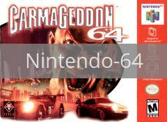 Image of Carmageddon original video game for Nintendo 64 classic game system. Rocket City Arcade, Huntsville Al. We ship used video games Nationwide