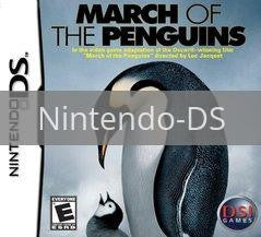 Image of March of the Penguins original video game for Nintendo DS classic game system. Rocket City Arcade, Huntsville Al. We ship used video games Nationwide