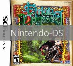 Image of Etrian Odyssey original video game for Nintendo DS classic game system. Rocket City Arcade, Huntsville Al. We ship used video games Nationwide