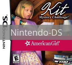 Image of American Girl Kit Mystery Challenge original video game for Nintendo DS classic game system. Rocket City Arcade, Huntsville Al. We ship used video games Nationwide
