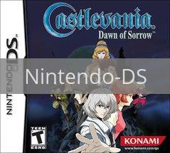 Image of Castlevania Dawn of Sorrow original video game for Nintendo DS classic game system. Rocket City Arcade, Huntsville Al. We ship used video games Nationwide