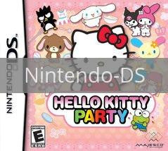 Image of Hello Kitty Party original video game for Nintendo DS classic game system. Rocket City Arcade, Huntsville Al. We ship used video games Nationwide