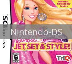 Image of Barbie: Jet, Set & Style original video game for Nintendo DS classic game system. Rocket City Arcade, Huntsville Al. We ship used video games Nationwide