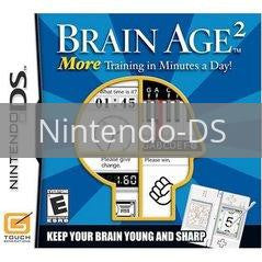 Image of Brain Age 2 original video game for Nintendo DS classic game system. Rocket City Arcade, Huntsville Al. We ship used video games Nationwide