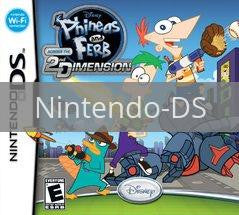 Image of Phineas and Ferb: Across the Second Dimension original video game for Nintendo DS classic game system. Rocket City Arcade, Huntsville Al. We ship used video games Nationwide
