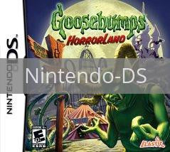 Image of Goosebumps Horrorland original video game for Nintendo DS classic game system. Rocket City Arcade, Huntsville Al. We ship used video games Nationwide