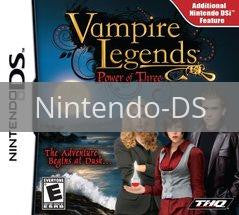 Image of Vampire Legends: Power Of Three original video game for Nintendo DS classic game system. Rocket City Arcade, Huntsville Al. We ship used video games Nationwide