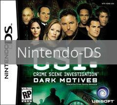 Image of CSI Dark Motives original video game for Nintendo DS classic game system. Rocket City Arcade, Huntsville Al. We ship used video games Nationwide