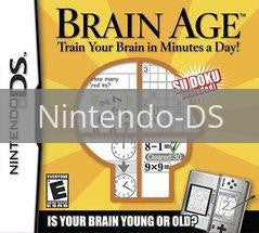 Image of Brain Age original video game for Nintendo DS classic game system. Rocket City Arcade, Huntsville Al. We ship used video games Nationwide