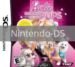 Image of Barbie: Groom and Glam Pups original video game for Nintendo DS classic game system. Rocket City Arcade, Huntsville Al. We ship used video games Nationwide