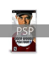 Image of Tiger Woods PGA Tour original video game for PSP classic game system. Rocket City Arcade, Huntsville Al. We ship used video games Nationwide
