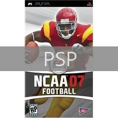 Image of NCAA Football 2007 original video game for PSP classic game system. Rocket City Arcade, Huntsville Al. We ship used video games Nationwide