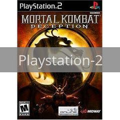 Image of Mortal Kombat Deception original video game for Playstation 2 classic game system. Rocket City Arcade, Huntsville Al. We ship used video games Nationwide